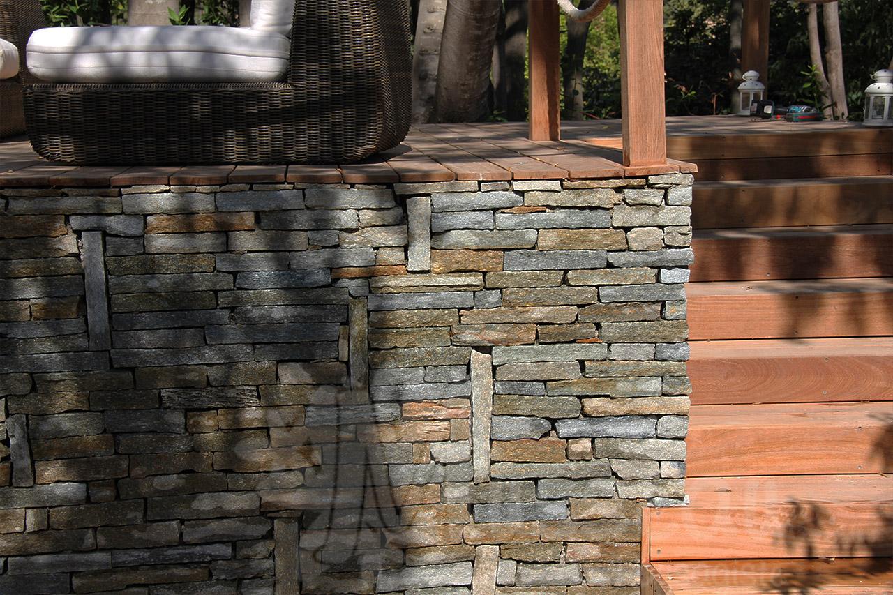 Terrasse et murets for Jardinier paysagiste herault